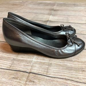 Cole Haan Nike Air Tali Wedges Pewter Sz 7.5